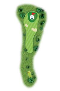 Buca n.1 Percorso 9 buche Golf Club I Salici