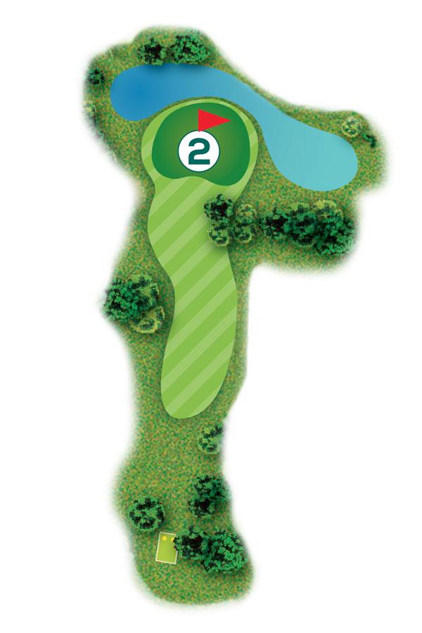 Buca n.2 Percorso 9 buche Golf Club I Salici