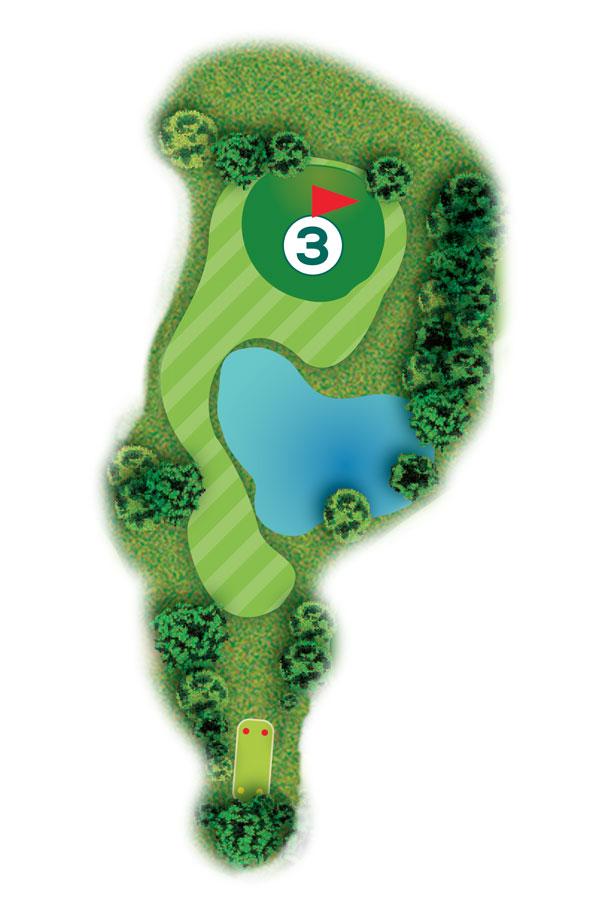Buca n.3 Percorso 9 buche Golf Club I Salici