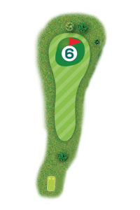Buca n.6 Percorso 9 buche Golf Club I Salici